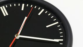 Modern wall clock ticking. With moving seconds hand - time passing by concept stock video