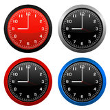 Modern wall clock vector Stock Photos