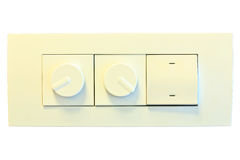 Modern wall electric light switch Royalty Free Stock Photography