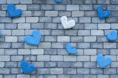 Modern wall with heart. Stock Photos