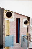 Modern wall insulation with fiberglass, mineral stone for an opt Royalty Free Stock Image