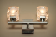 Modern wall lamp Royalty Free Stock Image