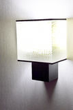 Modern  wall lamp on wall. Stock Image