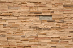 Modern Wall Missing a Brick Stock Images