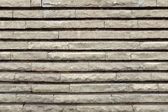 Modern Wall From rectangular Granite Blocks Royalty Free Stock Image