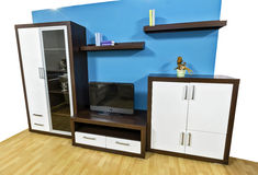 Modern wall unit. Contemporary wall unit for living room Stock Image
