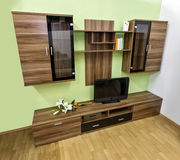 Modern wall unit. Contemporary wall unit for living room Stock Photo