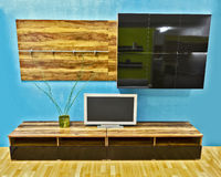 Modern wall unit Royalty Free Stock Images