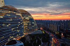 Wangjing SOHO, Beijing Royalty Free Stock Photography