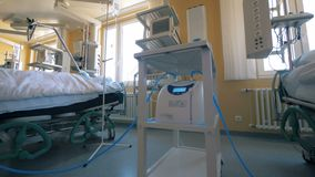 Medical ward with machines, close up. stock video footage