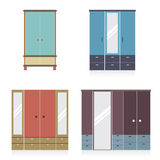 Modern Wardrobe Set. Modern Wardrobe Set Vector Illustration vector illustration