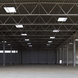 Modern warehouse. Interior details of spacious modern warehouse Royalty Free Stock Images