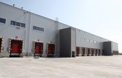 Modern warehouse. Loading dock at a warehouse Stock Image