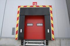 Modern warehouse. Loading dock at a warehouse Royalty Free Stock Photography