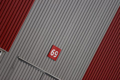 Modern warehouse. Wall of a modern warehouse Royalty Free Stock Image