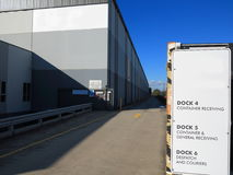 Modern warehouse driveway Stock Photography