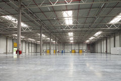 Modern Warehouse. Modern, Empty, Brand New, Huge Storehouse Royalty Free Stock Images