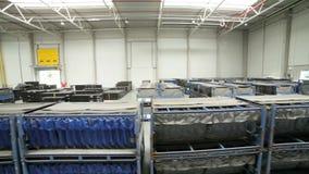 Modern warehouse full of goods stock video