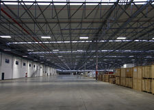 Modern warehouse interior Stock Images