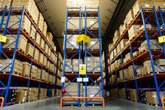 Modern warehouse royalty free stock photos