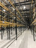 Modern Warehouse. With racking and locations Stock Images
