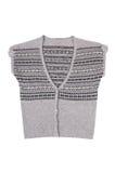 Modern warm vest op een wit. Royalty-vrije Stock Fotografie