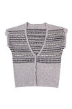Modern warm waistcoat on a white. Royalty Free Stock Photography