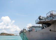 Modern warship Stock Image