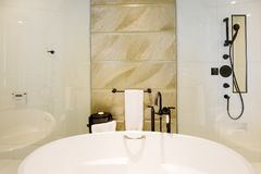 Modern wash basin in the hotel Royalty Free Stock Image