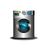 Modern washing machine. Colorful illustration with modern washing machine isolated on white background Stock Photo