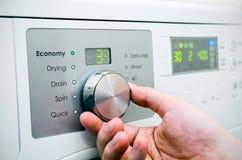 Modern washing machine panel Stock Photos