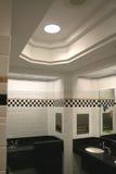 Modern washroom. Modern wash room interiors at shopping complex Stock Photo