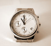 Modern Watch - isolated, sepia Stock Photography