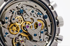 Modern Watch Movement. Showing fine detail Royalty Free Stock Photography