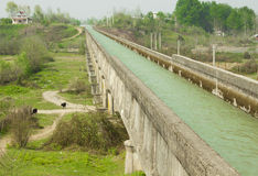 Modern water canal in north of Iran. For agriculture purpose Stock Image