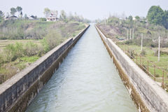 Modern water canal in north of Iran Royalty Free Stock Photo