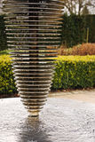 Modern water feature. An architect designed modern water feature in some beautiful gardens stock photos