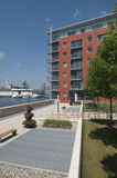 Modern waterfront apartments UK Royalty Free Stock Photos