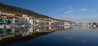 Modern waterfront development in Bergen Stock Images