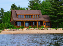Luxury waterfront house Royalty Free Stock Photos