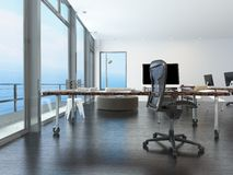 Modern waterfront office overlooking the sea Royalty Free Stock Photography