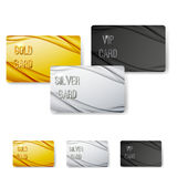 Modern wave abstract vip card collection Stock Photos