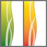 Modern wave design of a banner. Abstract modern wave design of a banner royalty free illustration