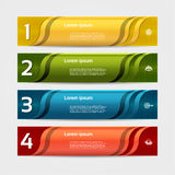 Modern wave infographics options banner. Vector illustration. can be used for workflow layout, diagram, number options, web design. Eps 10 Stock Photo