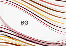 Modern wave lines, elegant wave abstract background Stock Images