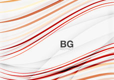 Modern wave lines, elegant wave abstract background Stock Photography