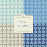 Modern wave pattern Stock Photo