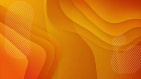 Modern Waving Background in Orange