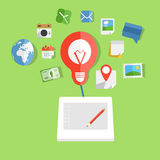 Modern web art technology Stock Photography