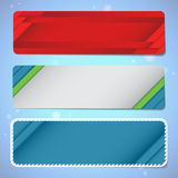 Modern web banners. RGB. Set of three empty banners. Vector contains transparent objects and blends Stock Photo